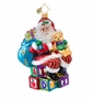 Christopher Radko ABC Santa Ornament