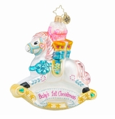 Christopher Radko Baby's First Christmas Ornaments