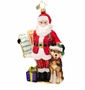 Christopher Radko Bring Change 2 Mind Santa Ornament