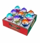 Christopher Radko Christmas Brites 9 Piece Signature Flocked Ombre Ornaments Set
