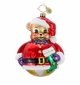 Christopher Radko Christmas Ornament - Bearing Cheer Teddy Bear Santa