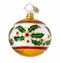 Christopher Radko Christmas Ornament - Holly Leaf Ribbon Mini