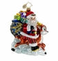 Christopher Radko Christmas Ornament - Ride Along Reindeer