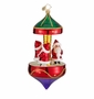 Christopher Radko Christmas Ornament - Santa-Go-Round