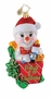 Christopher Radko Christmas Ornament - Snow Baby Hijinx