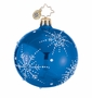 Christopher Radko Christmas Ornament - Snowflake Cascade Blue Mini