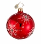 Christopher Radko Christmas Ornament - Snowflake Cascade Red Mini