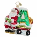 "Christopher Radko Christmas Ornament - Wagon Wheelin' ""A"" Green"