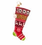 Christopher Radko Country Stitch Stocking Ornament