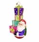 Christopher Radko Double the Joy Double the Fun Santa with Presents Ornament