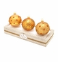 Christopher Radko Gold Boxed Glass Ornaments, Set of 3