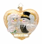 Christopher Radko Golden Frost Gent Ornament
