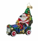 Christopher Radko Merry Motoring Santa Claus in Car Ornament