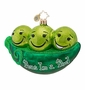 Christopher Radko Peas in a Pod Ornament