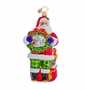 Christopher Radko Serene Scene Santa Ornament