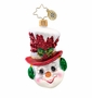 Christopher Radko Snow Chapeau Gem Ornament