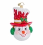 Christopher Radko Snow Chapeau Ornament