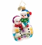 Christopher Radko Snowmen Glowmen Gem Ornament