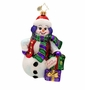 Christopher Radko Snowy Gift Pose Ornament