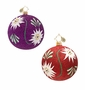 Christopher Radko Solid Glitter Freeblown Ornament