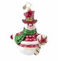 Christopher Radko Swirls and Stripes Ornament