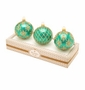 Christopher Radko Teal Boxed Glass Ornaments, Set of 3