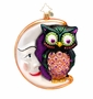 Christopher Radko Whooo Moon Ornament