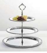 Chrome Plated Three Tier Dessert Server