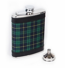 Concord 6 oz Black Watch Tartan Whiskey Flask