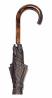 Concord Grey Tartan Umbrella Tiger Maple Handle