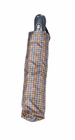 Concord Mini Tartan Umbrella Grey/Brown/Gold