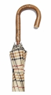 Concord Tan Tartan Ash Handle Umbrella Grey