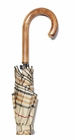 Concord Tan Tartan Umbrella Maple Handle