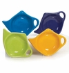 Confetti Pastel Colors Assorted Tea Bag Holders (4) by Hues and Brews