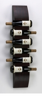 Contemporary Mahogany Wall Mount Wine Rack by Cyan Design