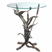 Crane Pair in Flight End Table Sculpture by SPI Home