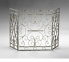 Crawford Antique White Fire Screen by Cyan Design
