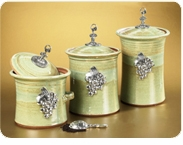 Crosby & Taylor (formerly Tin Woodsman) Canisters, Garlic Pots & Salt Pots