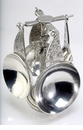 Crosby & Taylor Pewter Angel Measuring Cups with Pewter Display Post