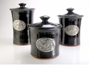 Crosby & Taylor Pewter Bird Canister Set - Blackberry