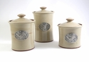 Crosby & Taylor Pewter Bird Canister Set - Latte