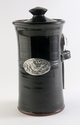 Crosby & Taylor Pewter Bird Coffee Canister - Blackberry