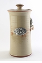 Crosby & Taylor Pewter Bird Coffee Canister - Latte