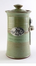 Crosby & Taylor Pewter Bird Coffee Canister - Pistachio