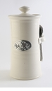 Crosby & Taylor Pewter Bird Coffee Canister - Whipping Cream