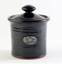Crosby & Taylor Pewter Bird Garlic Pot - Blackberry