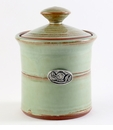 Crosby & Taylor Pewter Bird Garlic Pot - Pistachio