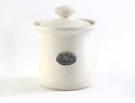 Crosby & Taylor Pewter Bird Garlic Pot - Whipping Cream