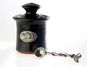 Crosby & Taylor Pewter Bird Petite Salt Pot - Blackberry