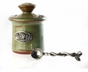 Crosby & Taylor Pewter Bird Petite Salt Pot - Pistachio